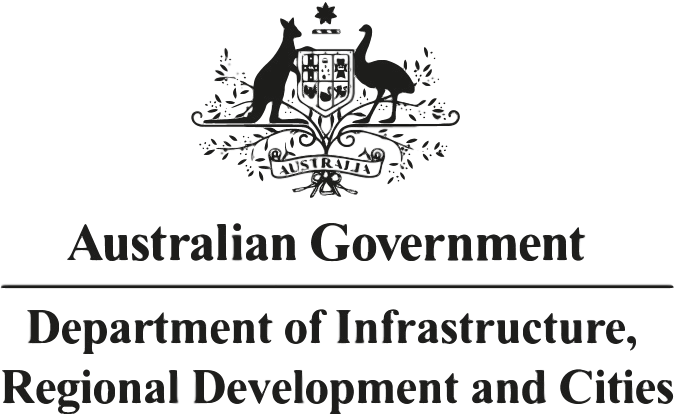 Australian Government Department of Infrastructure, Regional Development and Cities Logo